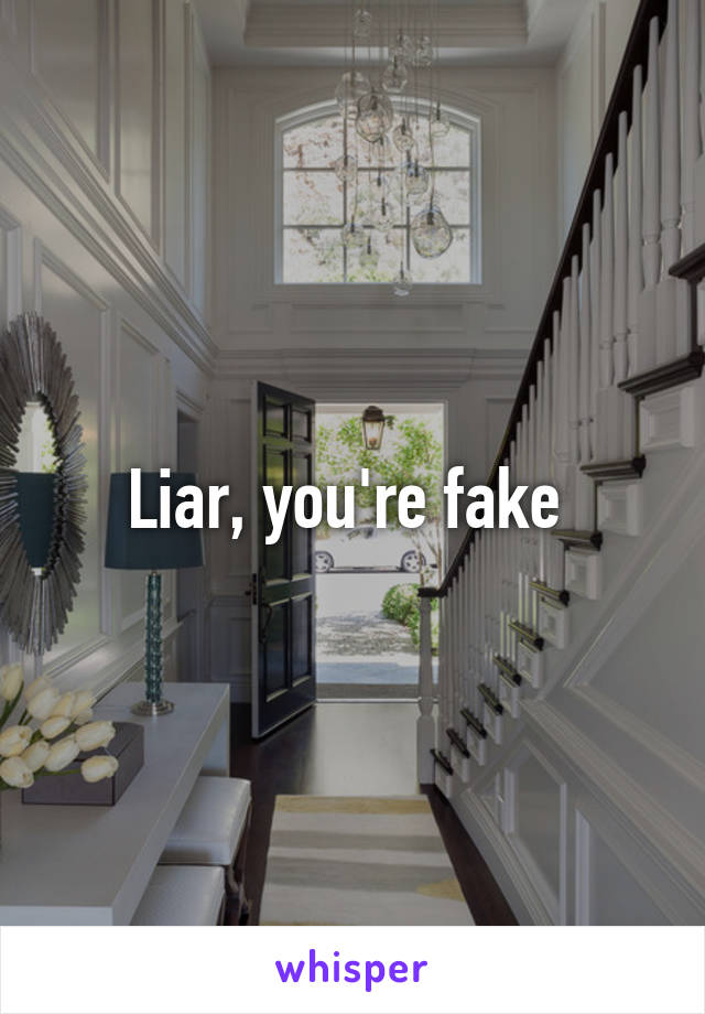 Liar, you're fake