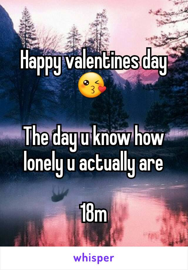Happy valentines day 😘   The day u know how lonely u actually are  18m