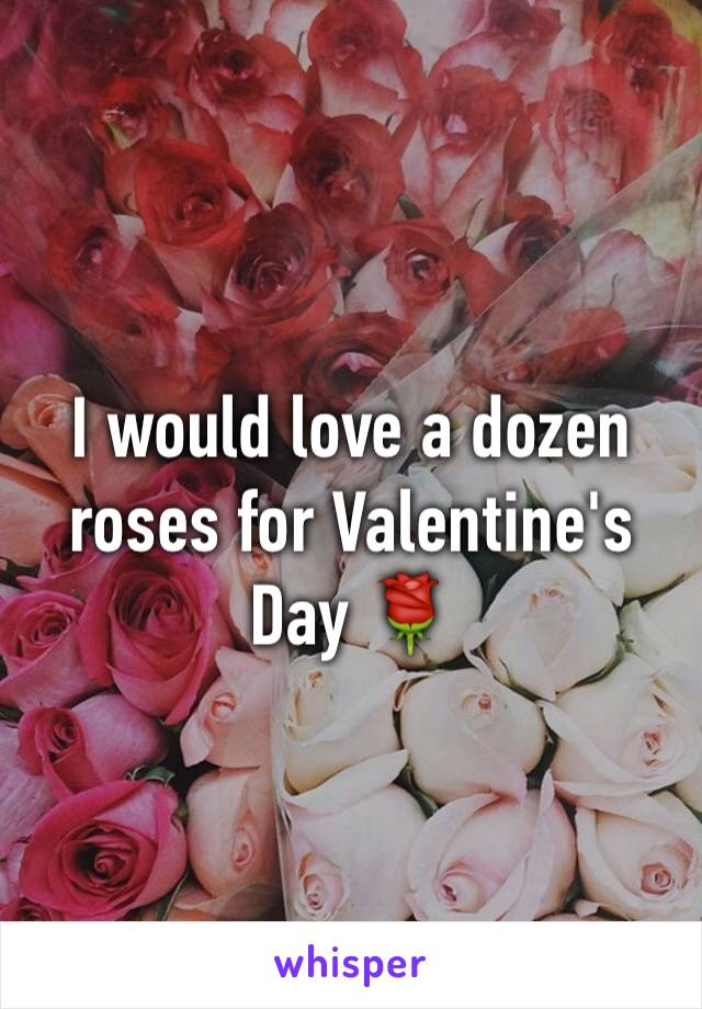 I would love a dozen roses for Valentine's Day 🌹