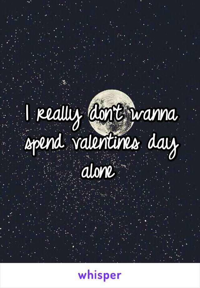 I really don't wanna spend valentines day alone