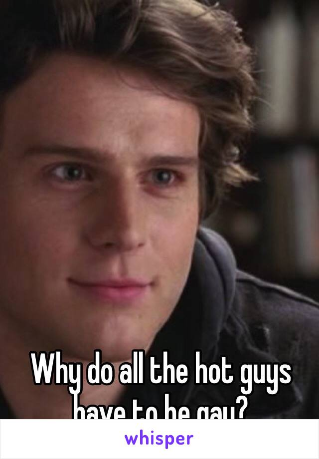 Why do all the hot guys have to be gay?