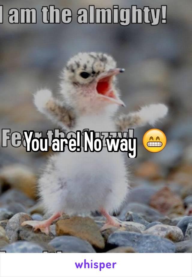 You are! No way 😁