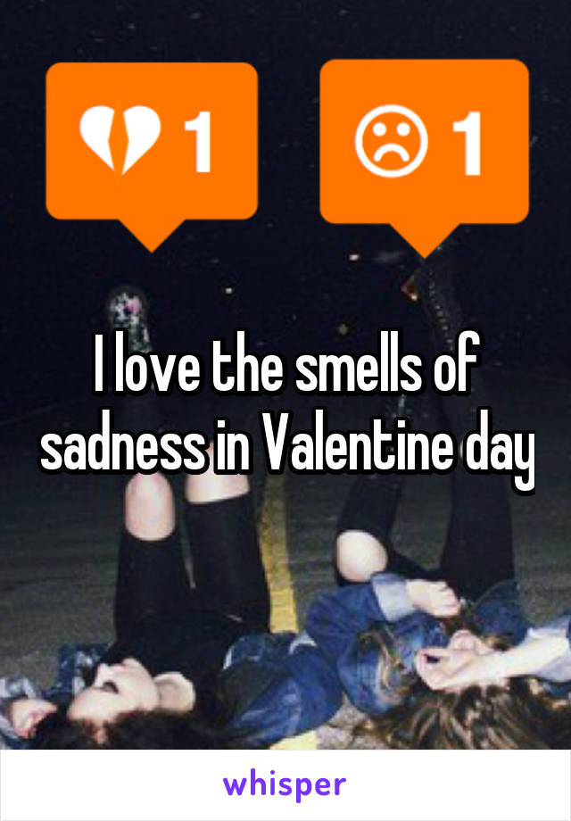 I love the smells of sadness in Valentine day