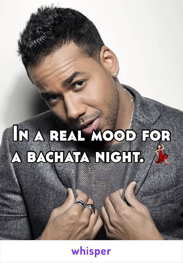 In a real mood for a bachata night. 💃🏻
