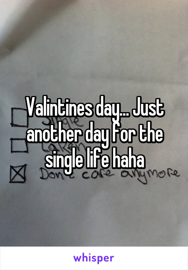 Valintines day... Just another day for the single life haha