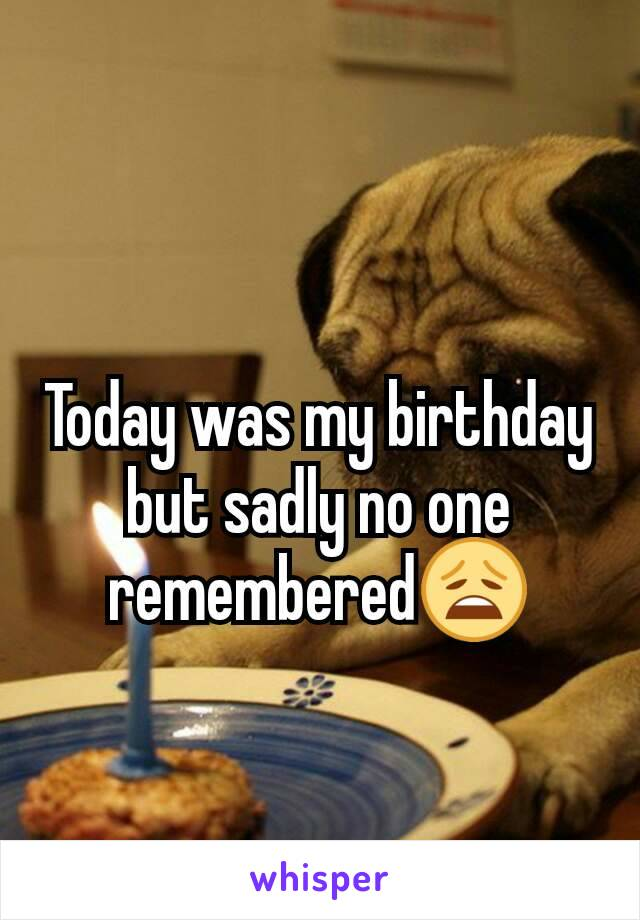 Today was my birthday but sadly no one remembered😩