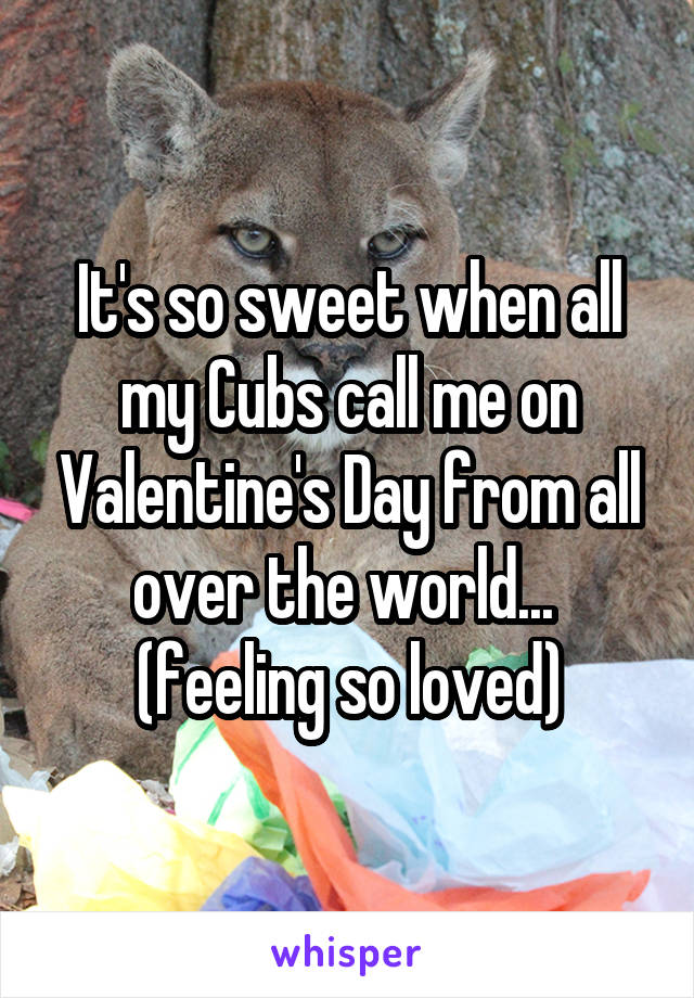 It's so sweet when all my Cubs call me on Valentine's Day from all over the world...  (feeling so loved)