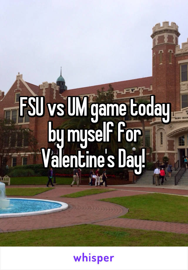 FSU vs UM game today by myself for Valentine's Day!