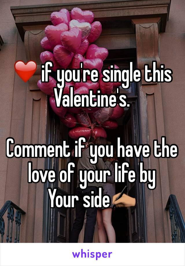 ❤️ if you're single this Valentine's.  Comment if you have the love of your life by Your side✍🏽