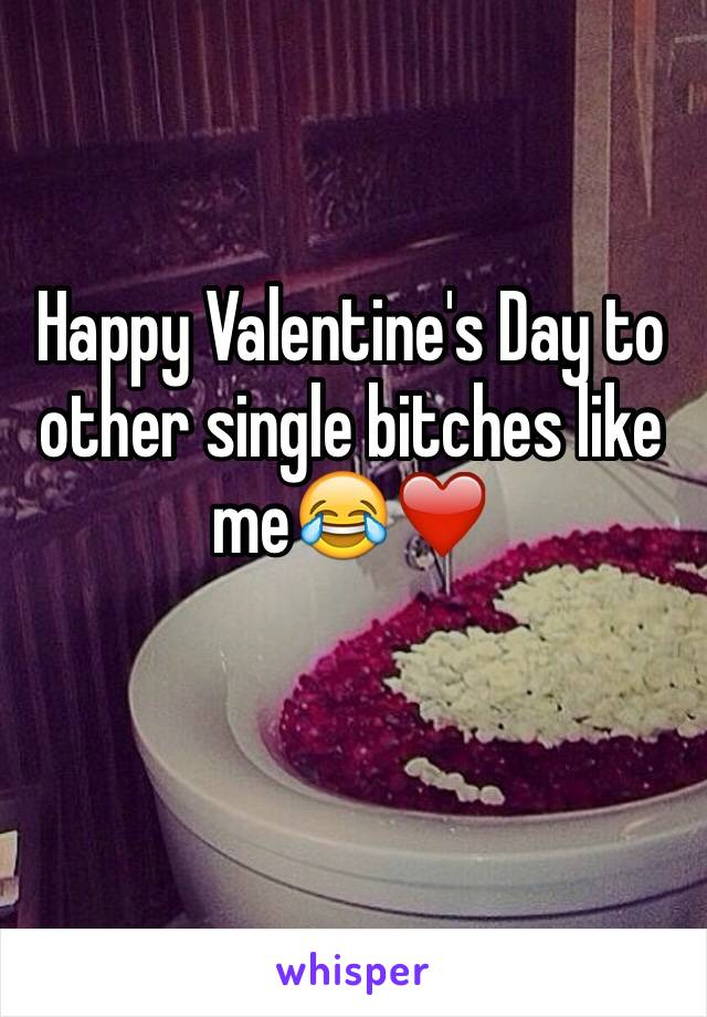 Happy Valentine's Day to other single bitches like me😂❤️