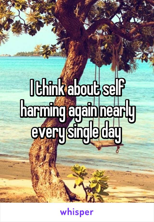 I think about self harming again nearly every single day