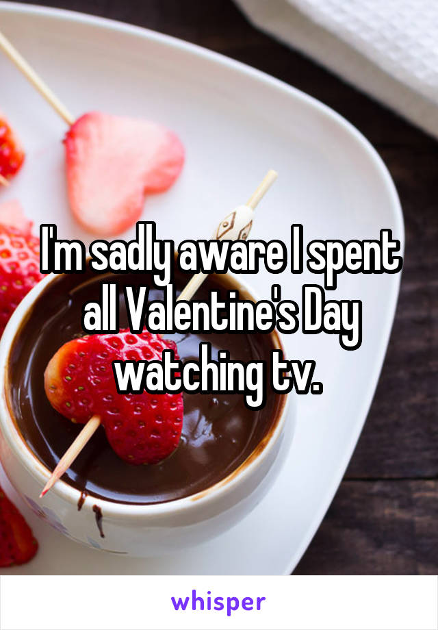 I'm sadly aware I spent all Valentine's Day watching tv.