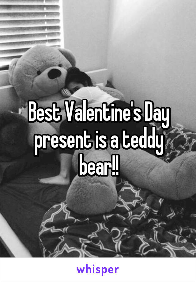 Best Valentine's Day present is a teddy bear!!