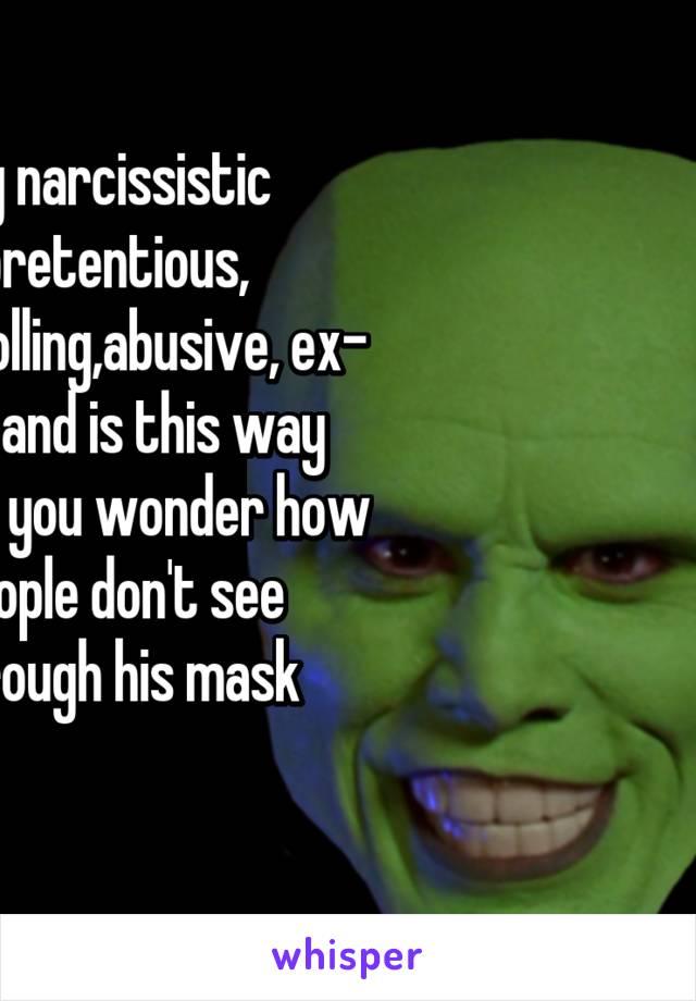 Controlling narcissistic husband