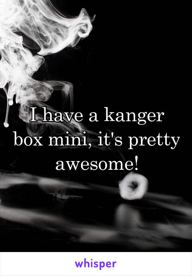 I Have A Kanger Box Mini Its Pretty Awesome