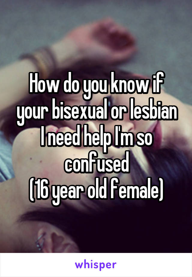 how to know if your lesbian