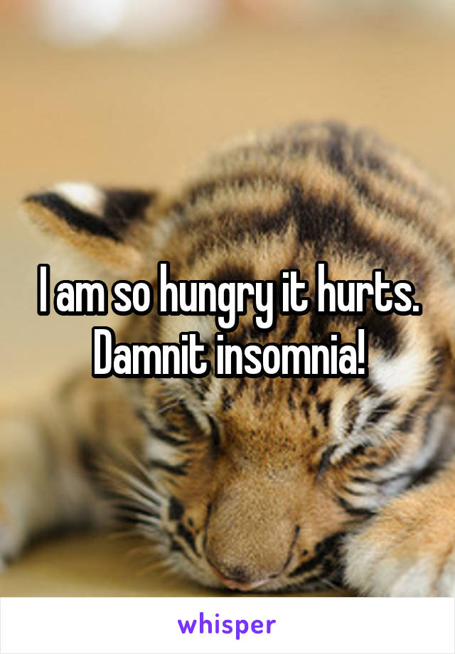I am so hungry it hurts. Damnit insomnia!