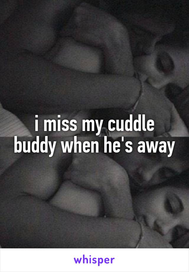 i miss my cuddle buddy when he's away