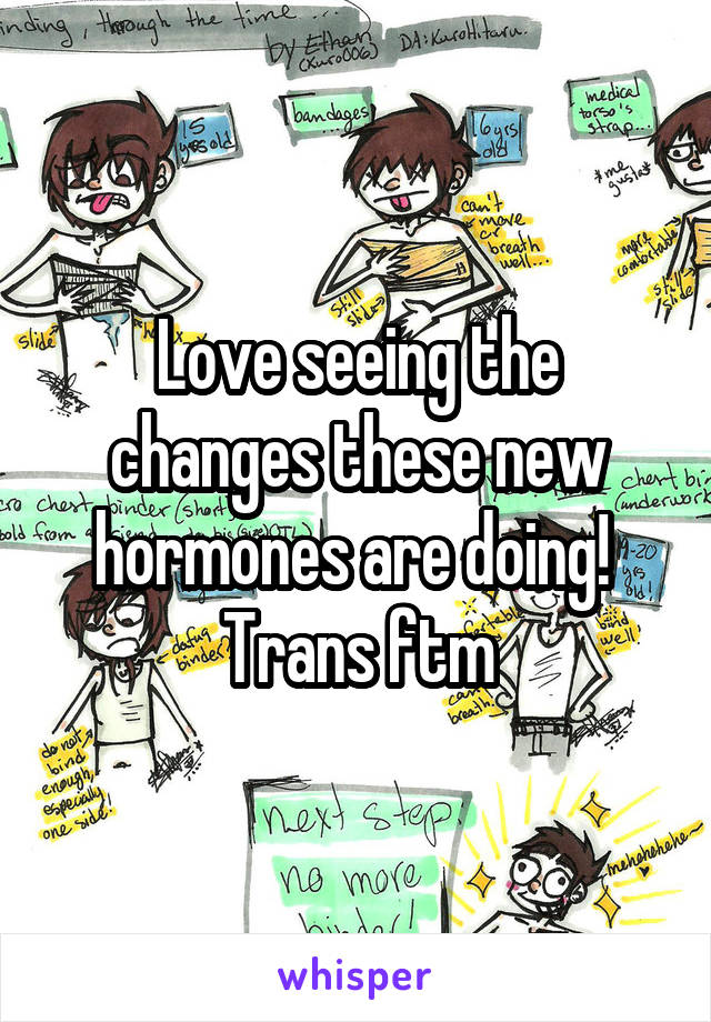 Love seeing the changes these new hormones are doing!  Trans ftm