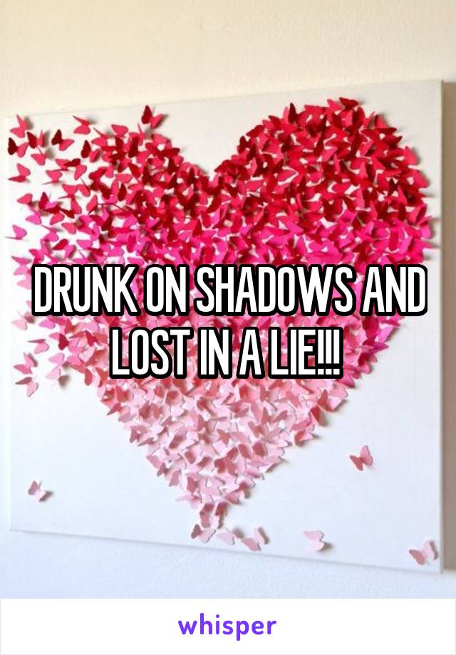 DRUNK ON SHADOWS AND LOST IN A LIE!!!