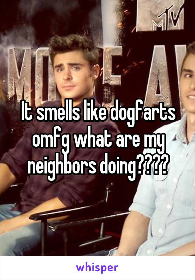 It smells like dogfarts omfg what are my neighbors doing????