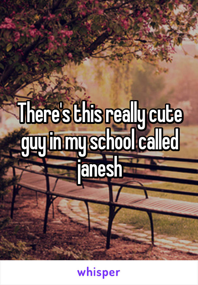 There's this really cute guy in my school called janesh