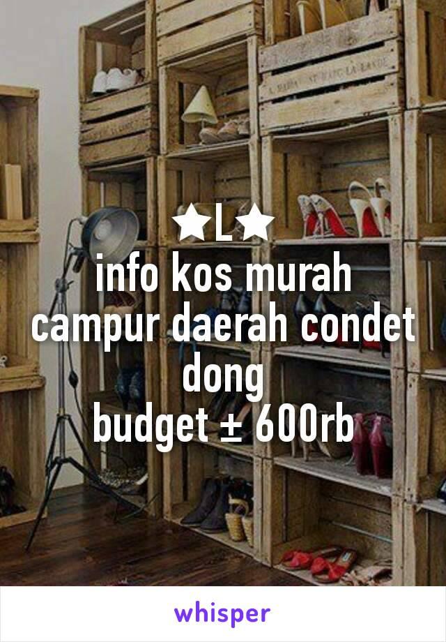 ★L★ info kos murah campur daerah condet dong budget ± 600rb