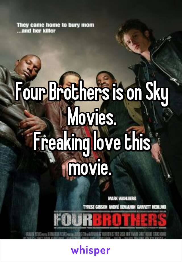 Four Brothers is on Sky Movies. Freaking love this movie.
