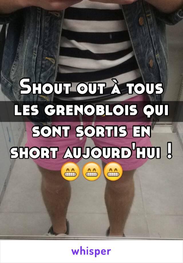 Shout out à tous les grenoblois qui sont sortis en short aujourd'hui ! 😁😁😁