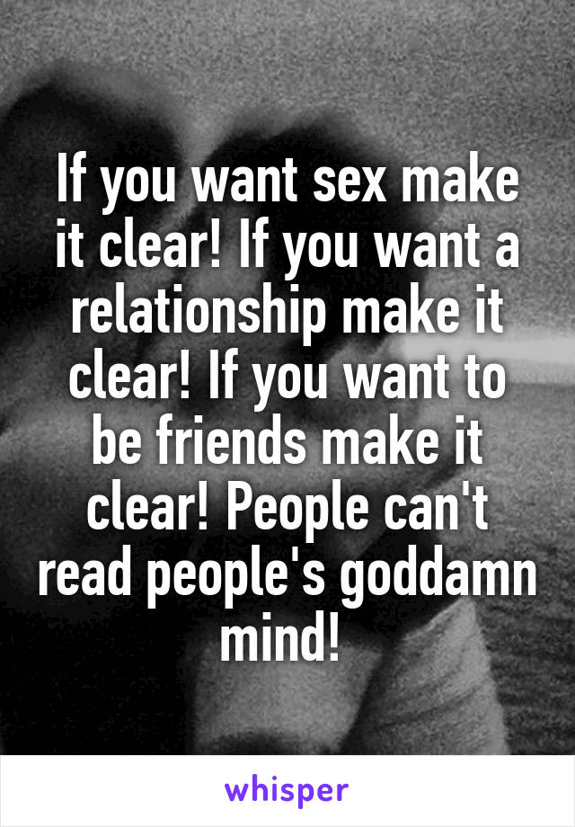 Agree, what to do if you want sex