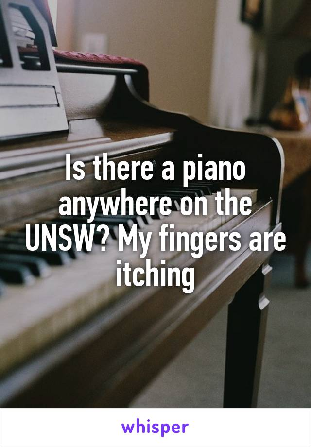 Is there a piano anywhere on the UNSW? My fingers are itching