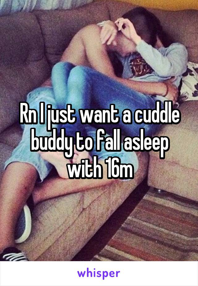 Rn I just want a cuddle buddy to fall asleep with 16m
