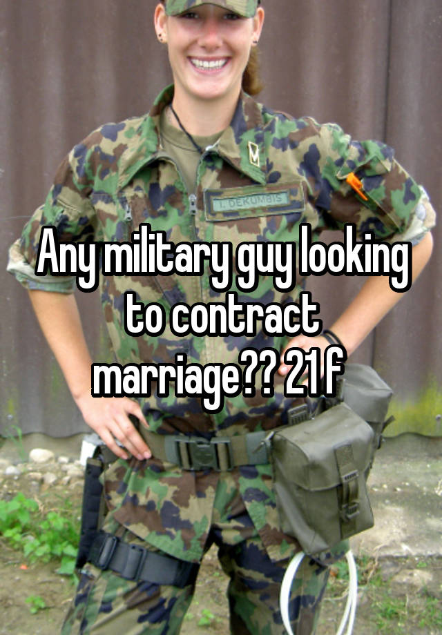 Contract marriage army