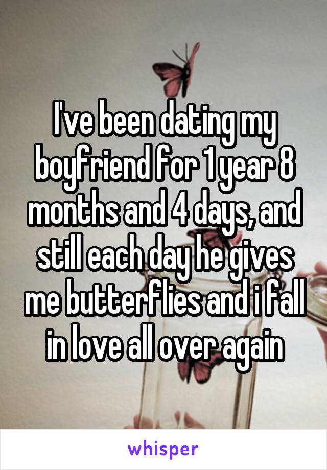 Me and my boyfriend have been dating for 1 month