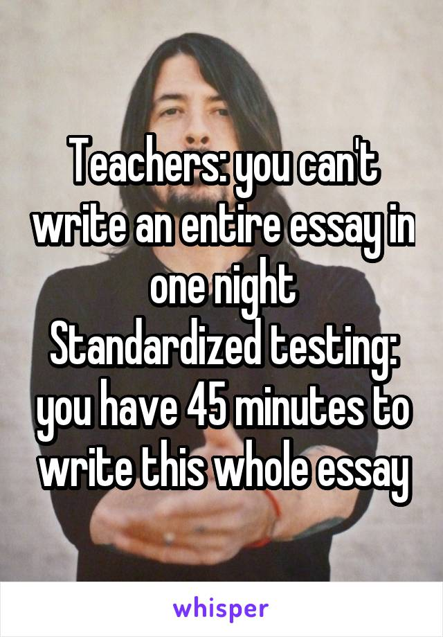 Can't never write an essay