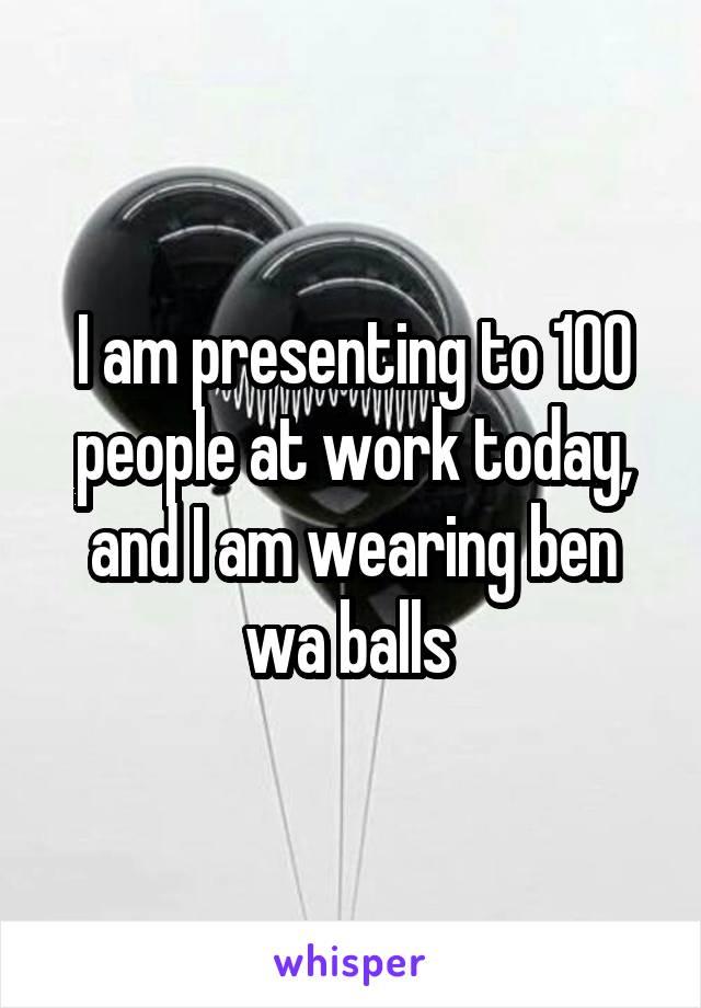Ben wa balls at work