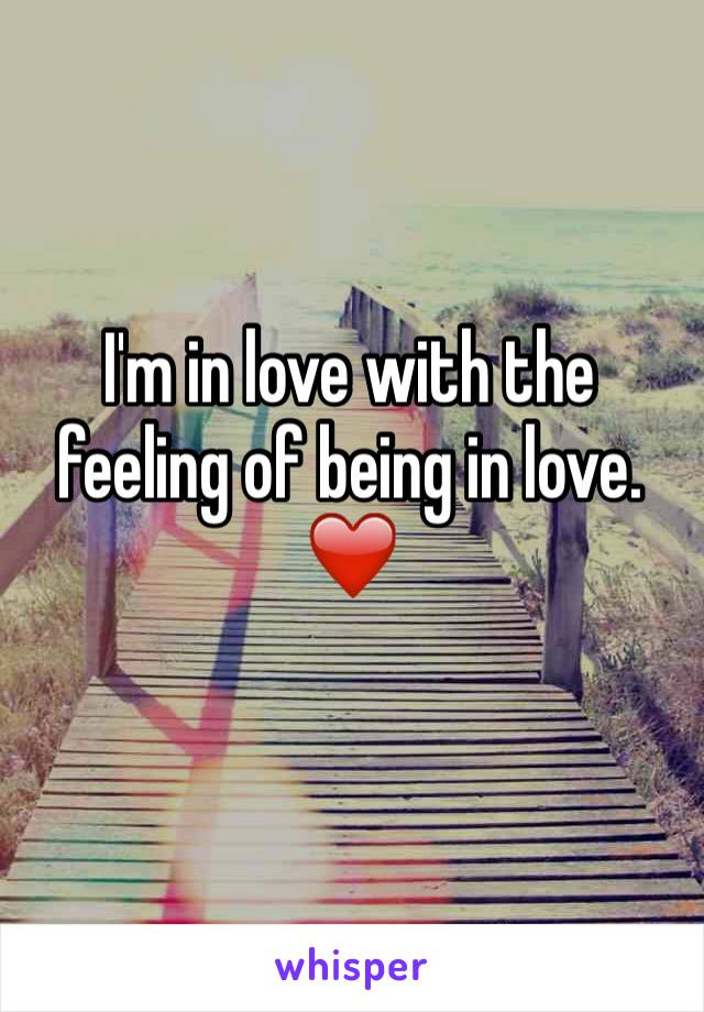 I'm in love with the feeling of being in love. ❤️