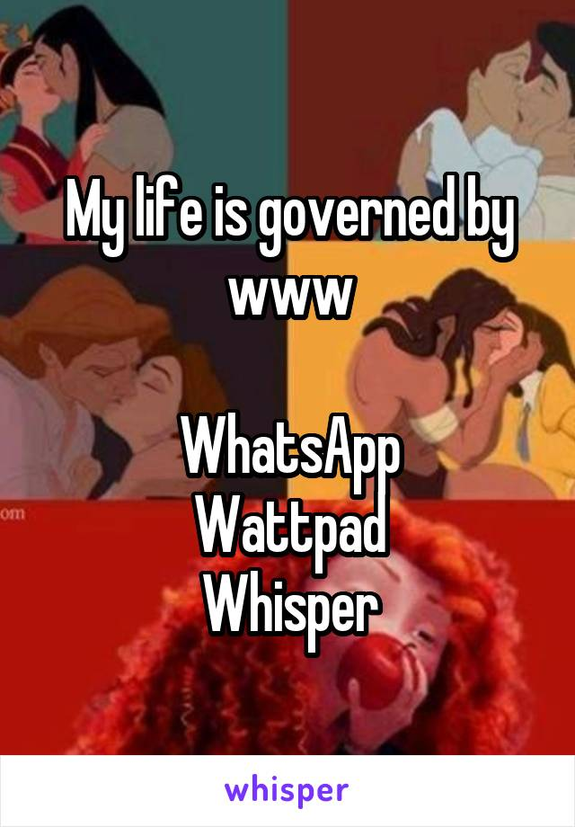 My life is governed by www  WhatsApp Wattpad Whisper
