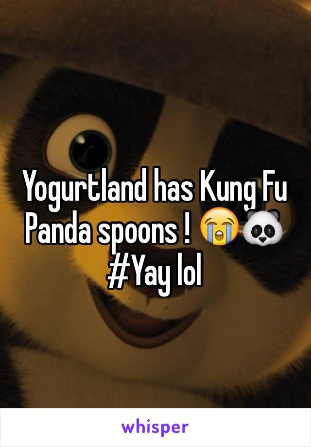 Yogurtland has Kung Fu Panda spoons ! 😭🐼 #Yay lol