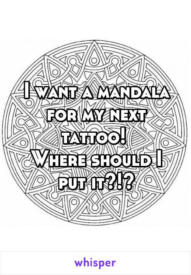 I want a mandala for my next tattoo!  Where should I put it?!?