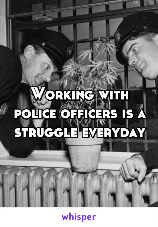 Working with police officers is a struggle everyday