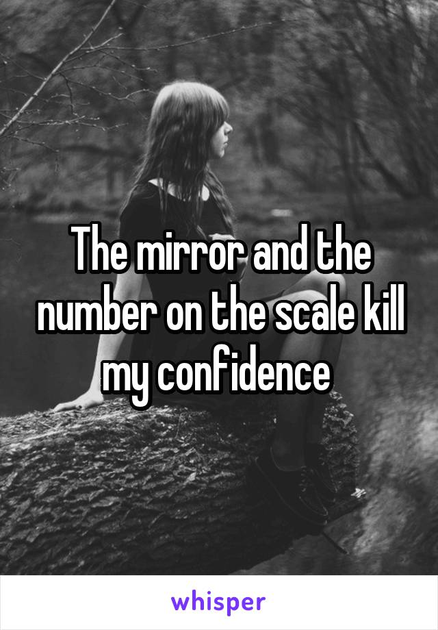 The mirror and the number on the scale kill my confidence