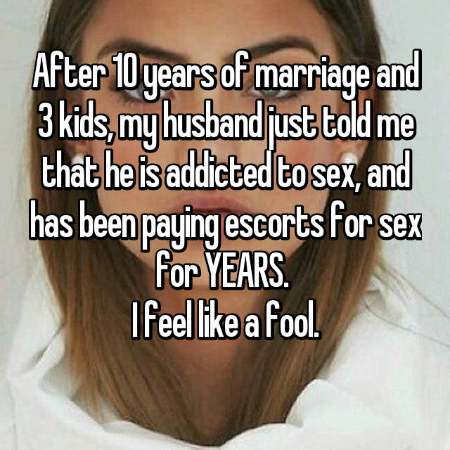 Being married to a sex addict