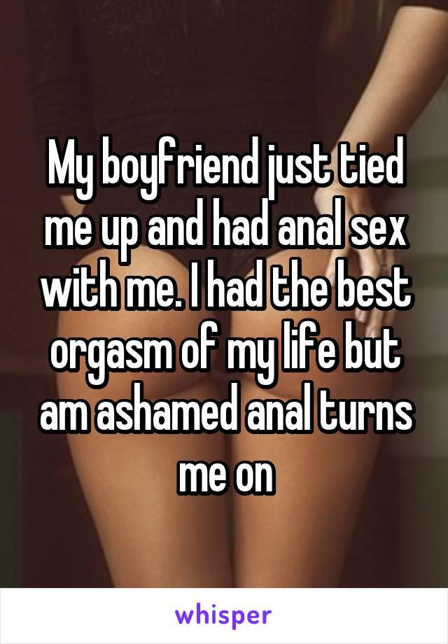 Anal sex with my boyfriend