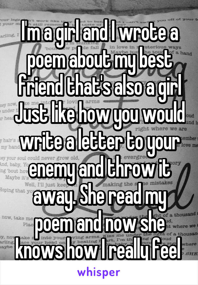 For friend best your poems girl 15 Rhyming