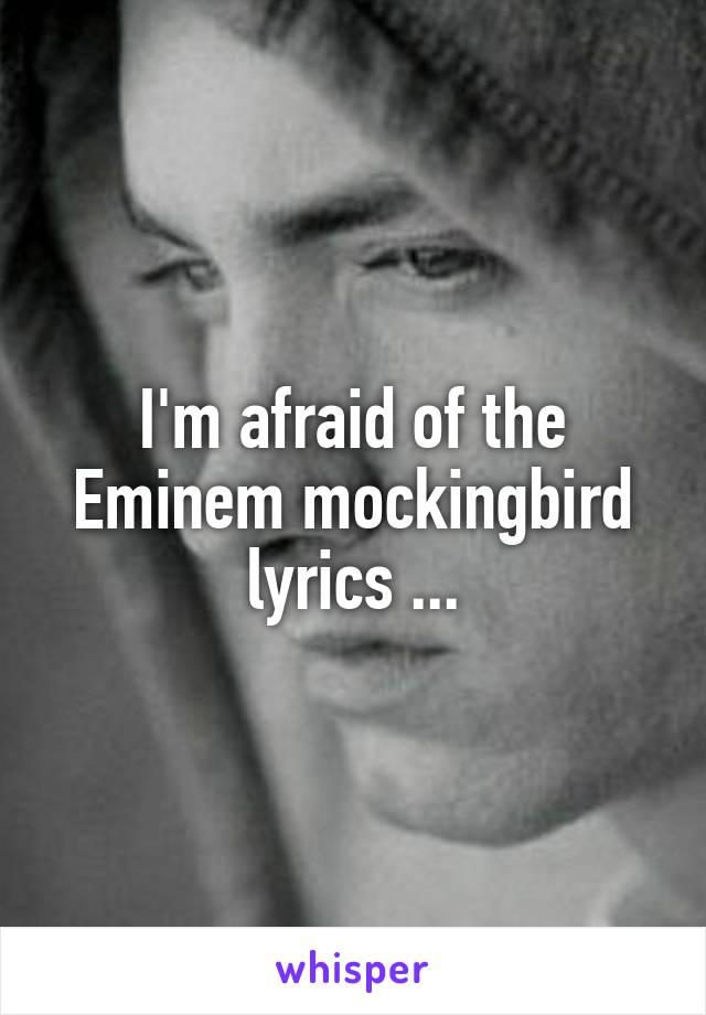 I'm afraid of the Eminem mockingbird lyrics ...