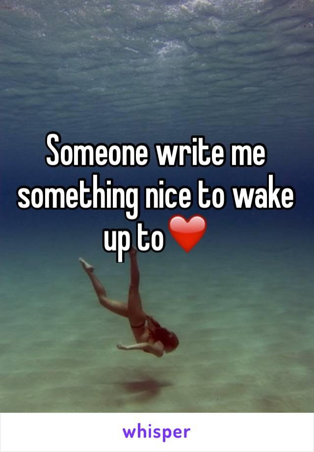 Nice wake up