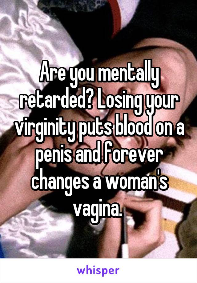 How losing virginity how much blood