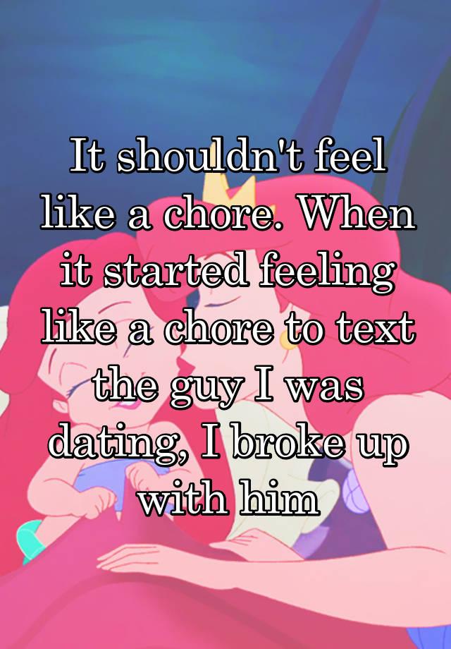 dating feels like a chore