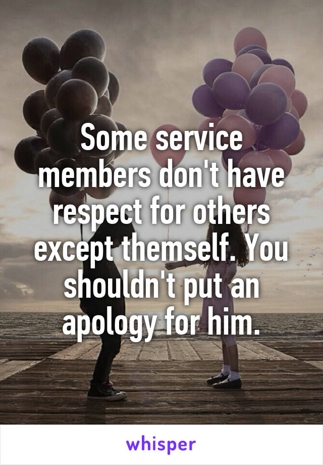 have respect for others